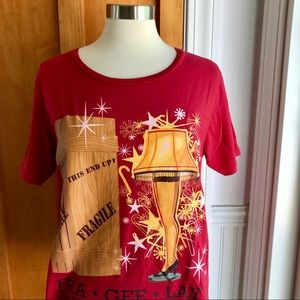 A Christmas Story T-Shirt w/Fra Gee Lay Leg Lamp